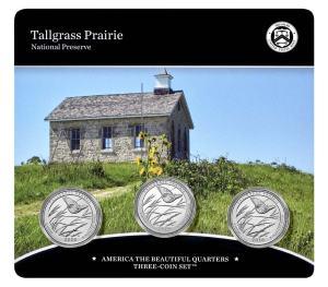 Tallgrass Prairie National Preserve 2020 Quarter, 3-Coin Set