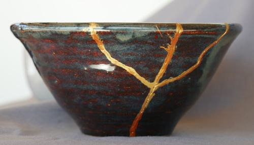 Lin's bowl demonstrates the Japanese art of kintsugi.
