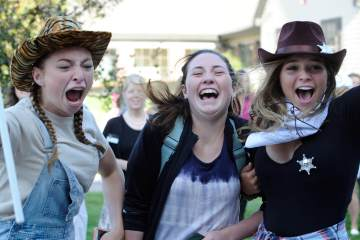 Colorado Academy seniors welcome the incoming freshman class to Upper School.