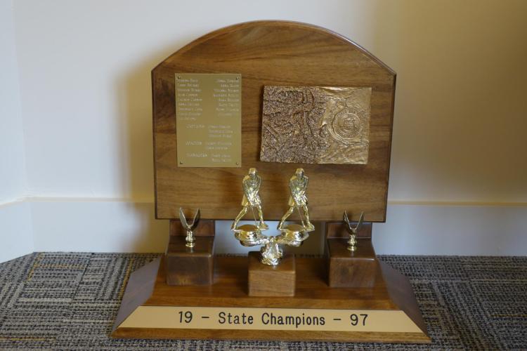 The 1997 Colorado Field Hockey trophy.
