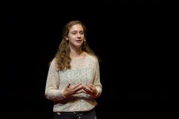 Alexis Goldman gives her 5UP speech.