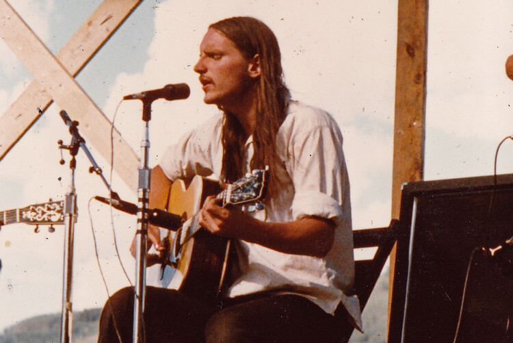 Chris Daniels performing in 1975