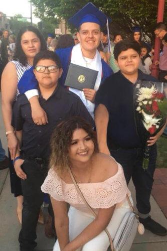 Omar Romero-Preciado at his graduation from high school.