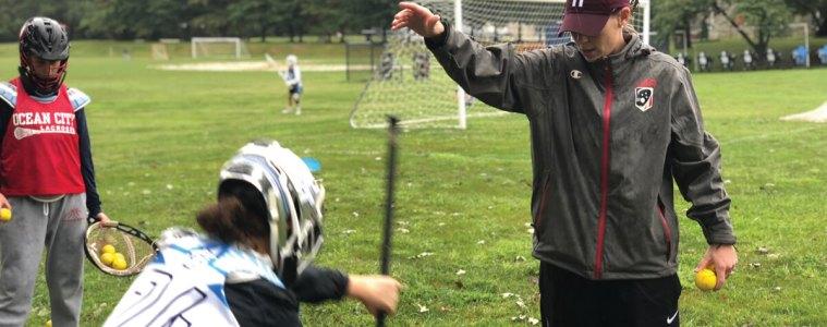 Devon Wills coaching at Harvard