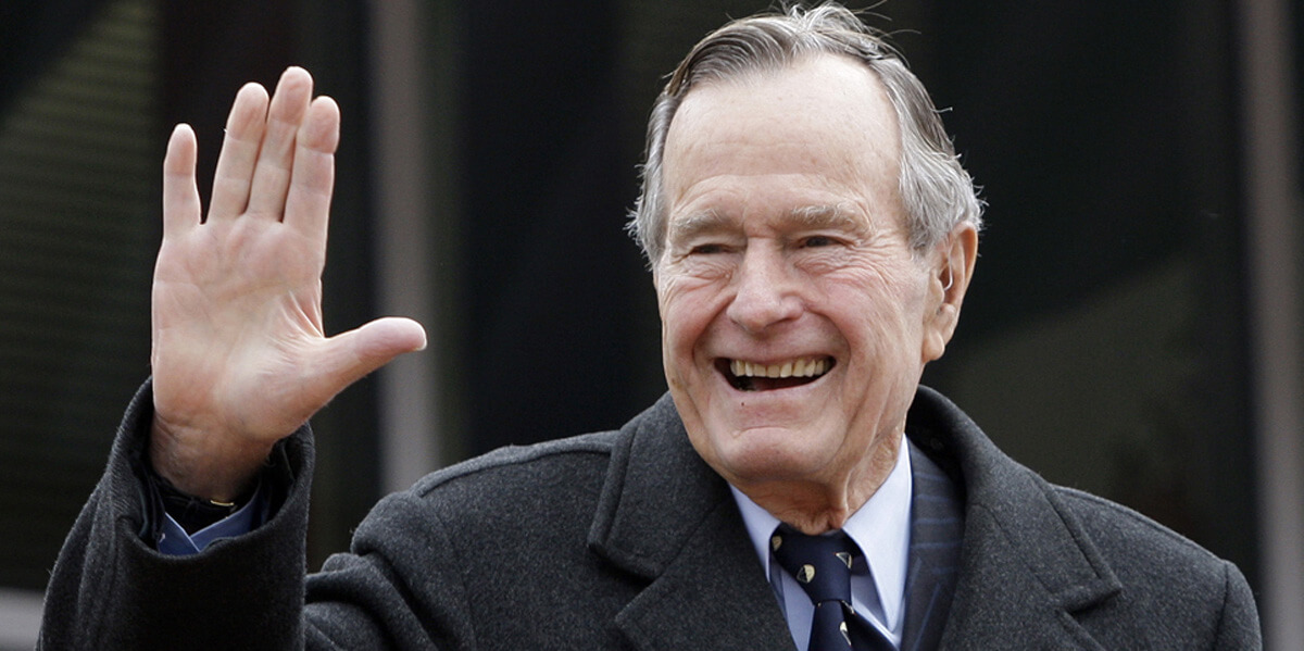President George H.W. Bush (Photo credit: Eric Gay/ AP/ Shutterstock)