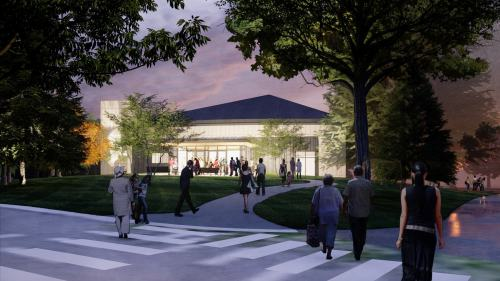 Rendering of Colorado Academy's Leach Center for the Performing Arts.