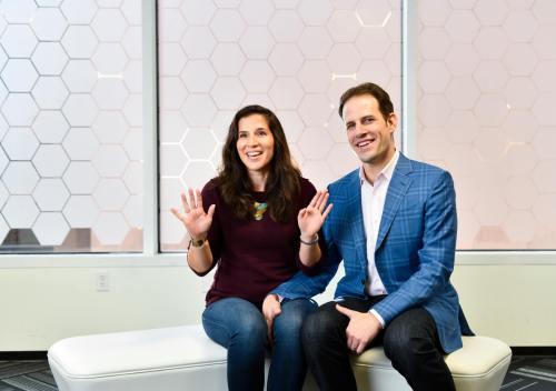 Jennifer Gaudiani and Bryan Leach