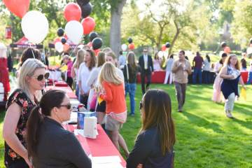 2018 Parent Volunteer Fair on the first day of school at Colorado Academy.