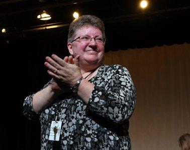 Lower School music instructor Brenda Bartel