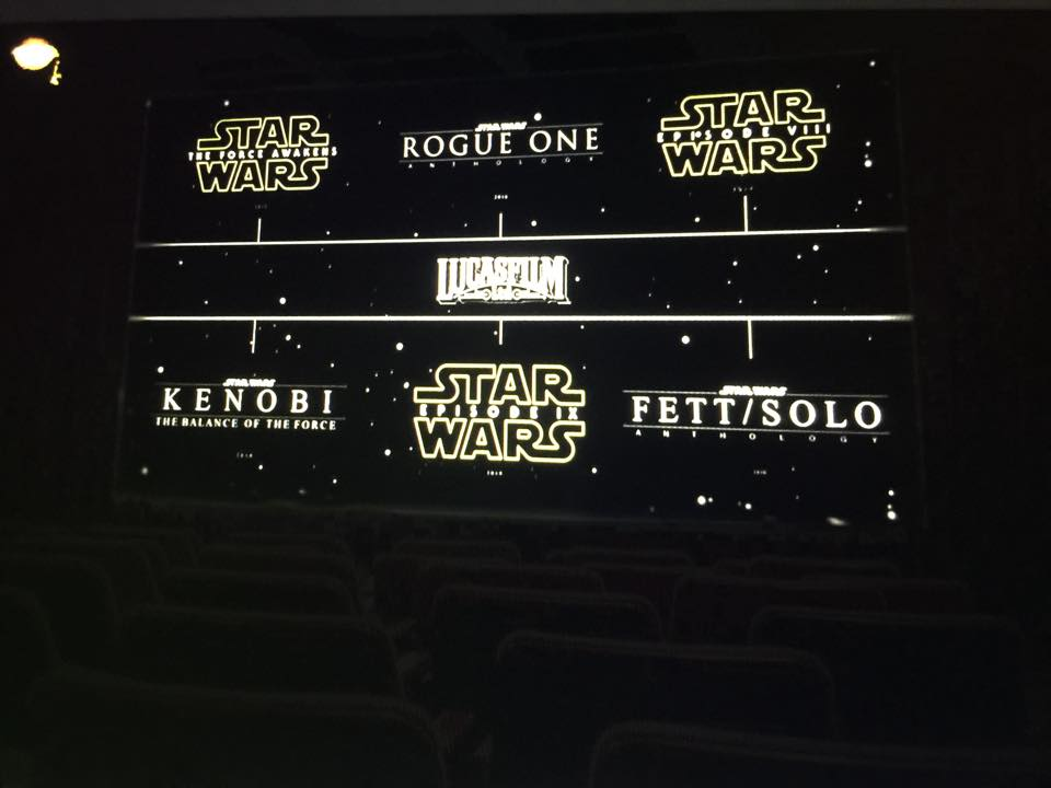star wars movie slate