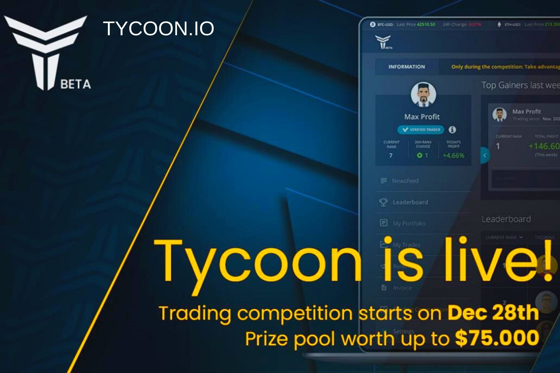 The Tycoon Social Trading Platform is Now Live!