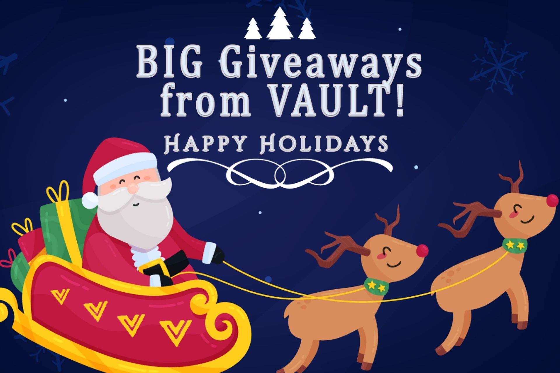 Happy Holidays from VAULT with Massive Crypto Giveaways!