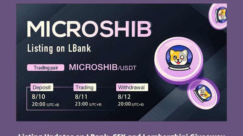 MicroSHIBA   Listing Updates on LBank, CEX and Lamborghini Giveaway Campaign