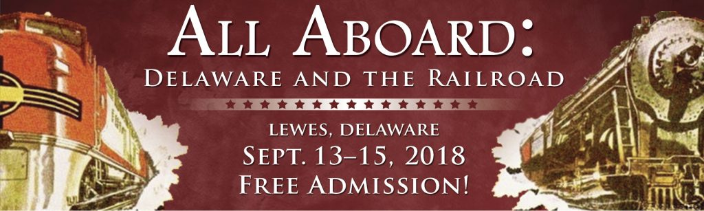 """Delaware and the Railroad"" banner"