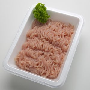 Photo of Package of uncooked ground turkey, uncovered