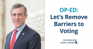 Voting Reforms Op-Ed Governor Carney