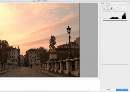Blend exposures using 32-bit files