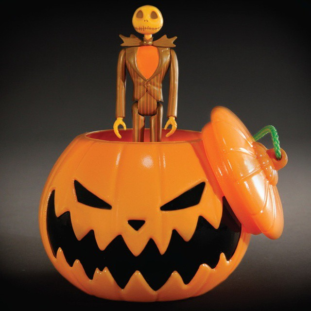 Nightmare Before Christmas Halloween Jack Skellington ReAction Figure in Pumpkin Ornament