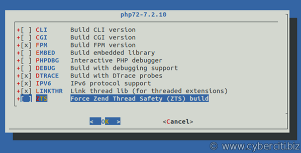 Install the PHP 7.2 port on FreeBSD