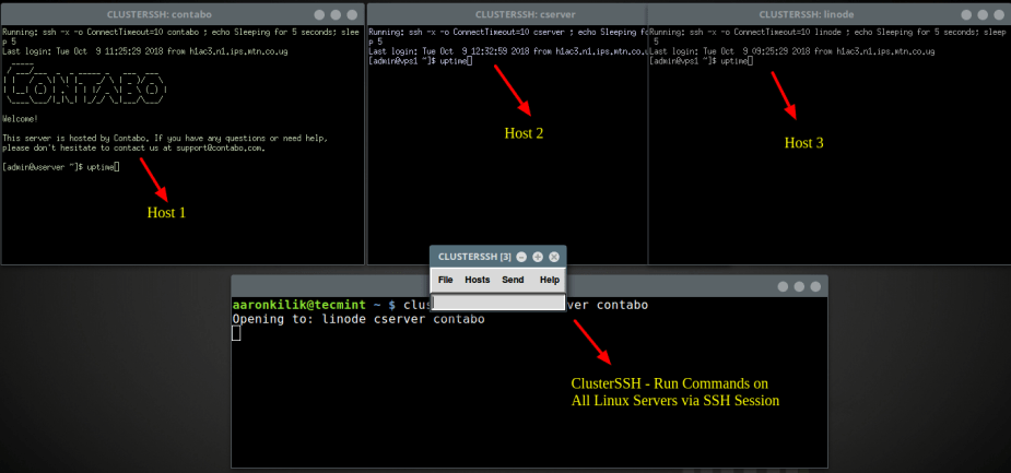 Clusterssh - Administer Multiple SSH Sessions