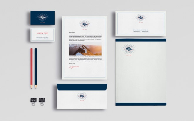 Business Stationery Mock Up
