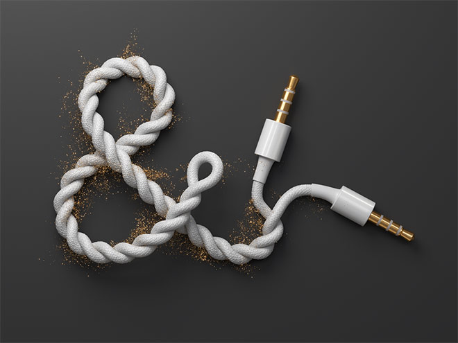 Ampersand Audio Cable by Mikael Eidenberg