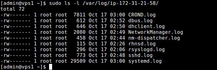 Check Rsyslog Client Logs