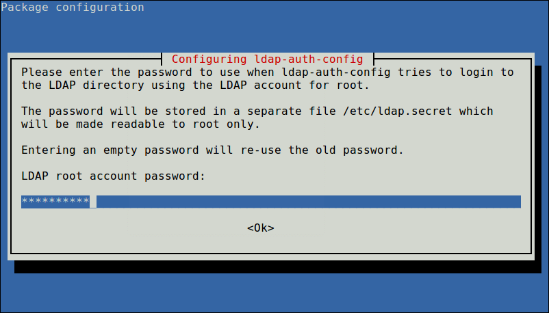 Enter LDAP Root Password