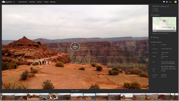 Panoramic view windows 8.1