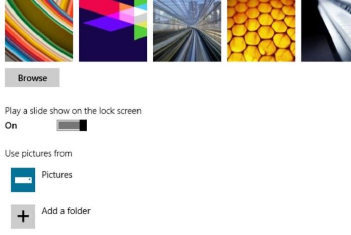 lock screen slideshow windows 8.1