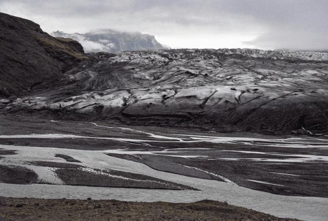 Photo of Iceland's Skaftafellsjokull glacier taken by Colin Baxter in 1989