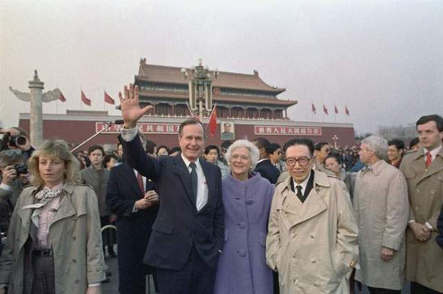 1989: George HW Bush in Beijing - he encouraged economic engagement with China