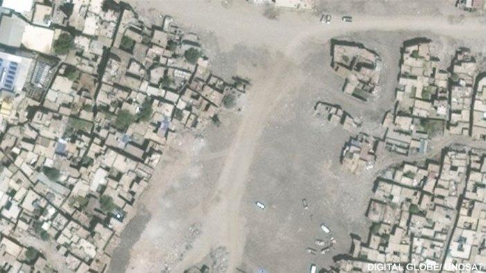 Sur mahallesinin uydu görüntüleri, Temmuz 2016