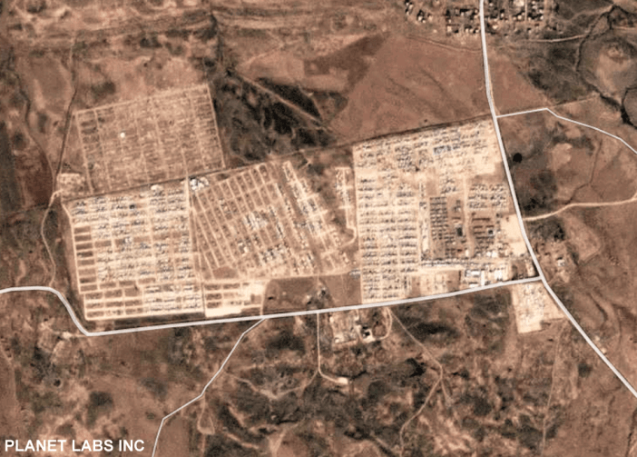 Satellite image shows the camp in December 2018