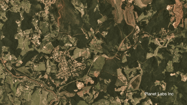 Satellite image of Brumadinho mine in Brazil 24 January 2019