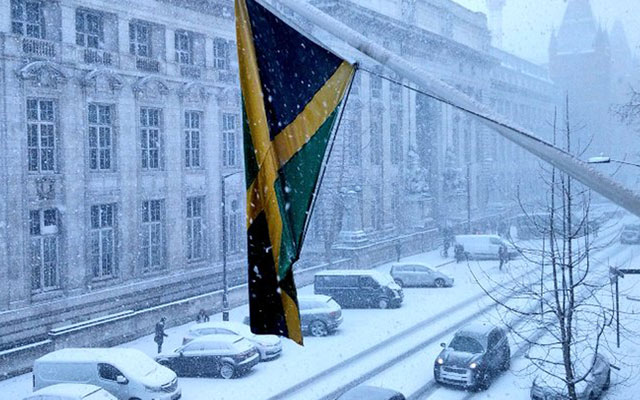 View from the Jamaica High Commission in February 2018