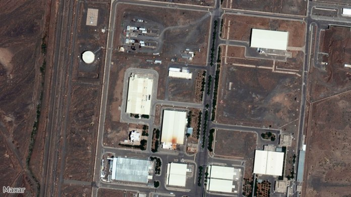 Satellite image showing the nuclear installation in Natanz, Iran, June 29, 2020. Image by Maxar