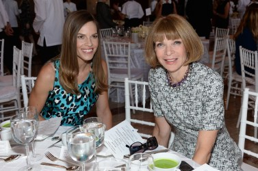 Hilary Swank and Anna Wintour