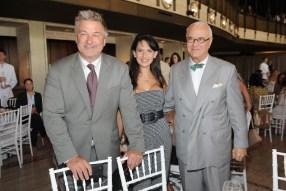 Alec Baldwin, Hilaria Baldwin, and Manolo Blahnik