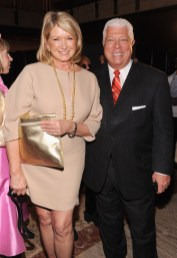 Martha Stewart and Dennis Basso