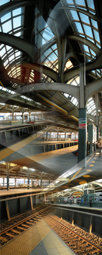 Anne Finkelstein, 30th Street Station, digital print on paper, 2009, 20 x 50 inches.