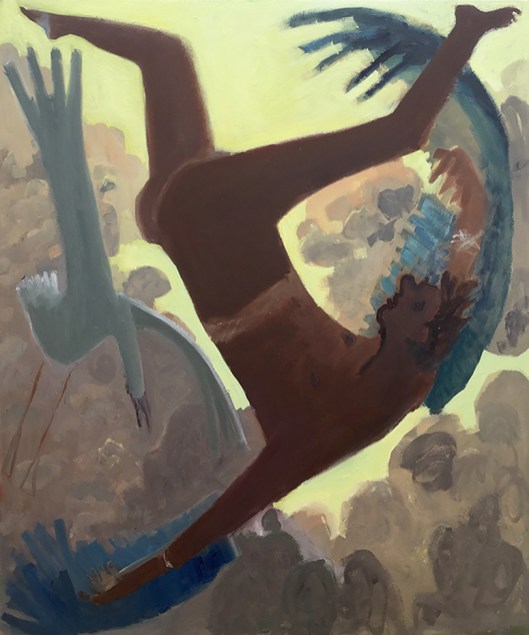 Kyle Staver: Icarus, 2015, oil on canvas, 42 x 50 in.