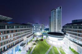 FIT at SUNY Korea at night