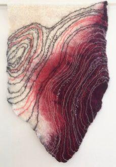 Ruth Jeyaveeran's embroidered art, Red Algae