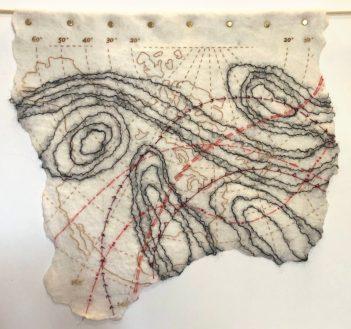 Ruth Jeyaveeran's embroidered art, Synoptic Chart 1