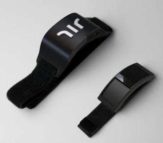 black haptic wristbands called the Wayband