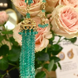 Crown of the Andes DD x The Met Emerald Tassel Necklace
