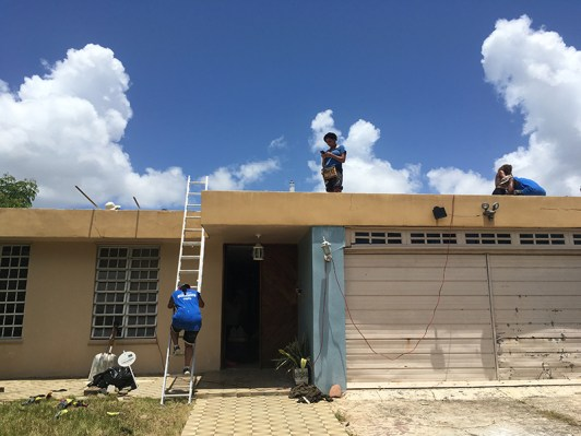 Students repaired homes that had become unlivable.