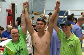 Ellen Lynch Coaches Special Olympics Swim Team