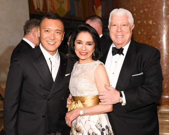Dr. Joyce F. Brown with alumni Joe Zee and Dennis Basso. (Photo: BFA for FIT)